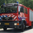Gasfles van de Barbecue in de brand